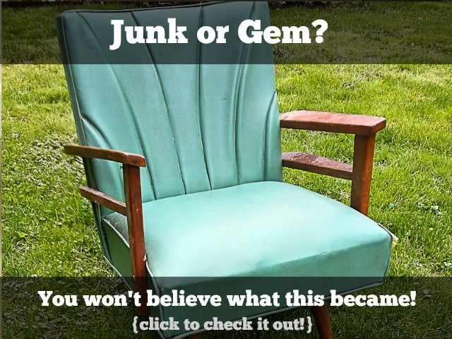 Ugly old vinyl chair - what could possibly bring this back to life?   Click to find out!