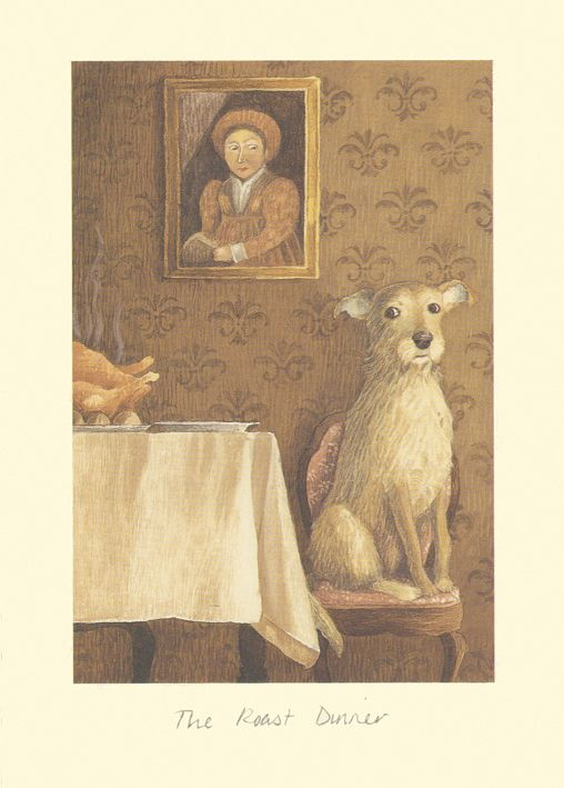 IA7 ROAST DINNER by Alison Friend - A Two Bad Mice Greeting Card