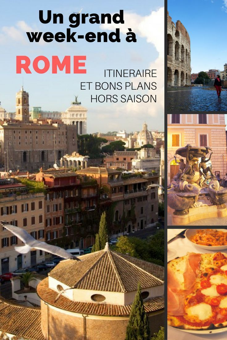 Itinéraire et bons plans pour un grand week-end à Rome hors saison Pour ce voyage prévu à la dernière minute, nous ne disposions que d'un grand week-end et d'un petit budget. Rome a été la destination idéale.