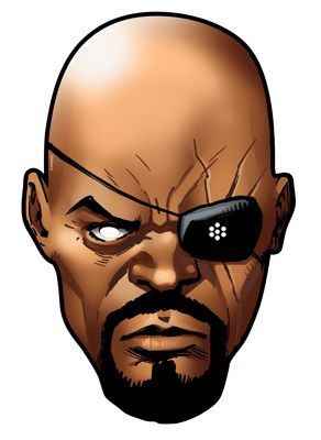 Nick fury from marvel 39 s the avengers single card party for Avengers mask template