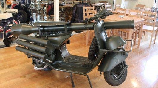 Vespa's 150 TAP (Troupes Aéro Portées) was designed to be dropped into battle by parachute...