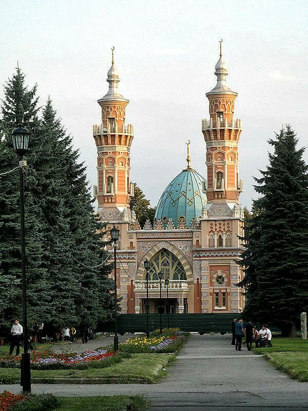 Beautiful Mosque - Mukhtarov Mosque in Vladikavkaz, Russia