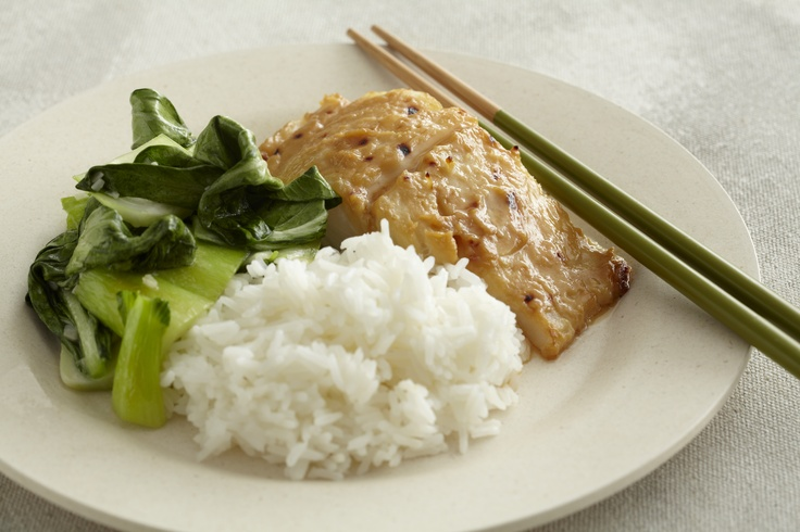Miso-Glazed Cod with Seared Baby Bok Choy and White Rice #dineinfresh: Subscription Recipes, Miso Cod Recipes, Babies, Seared Baby, Baby Bok, Bok Choy, Miso Glaz Cod, Choy Recipes, Finding Recipes