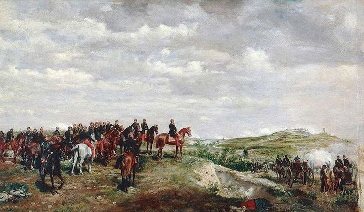Second Italian War of Independence Part of the wars of Italian Unification Napoleon III at the Battle of Solferino, by Jean-Louis-Ernest Meissonier Oil on canvas, 1863