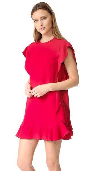 RED Valentino Платье с оборками из крепа