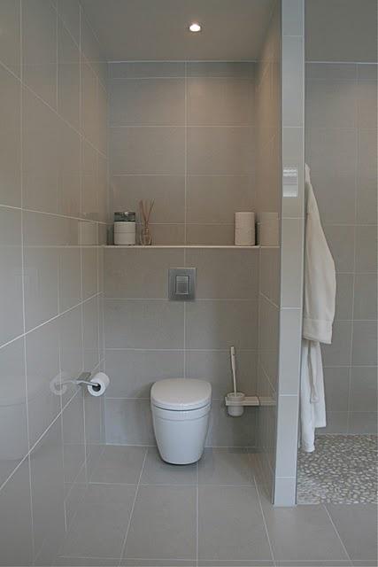 Bad - wc og dusj nisje, steiner i gulv i dusj