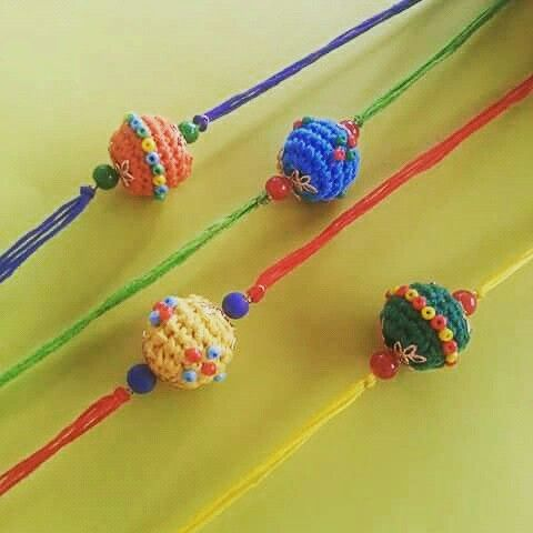 This Raksha bandhan come to Sanctum!  Crochet bead rakhis! #buyatsanctum