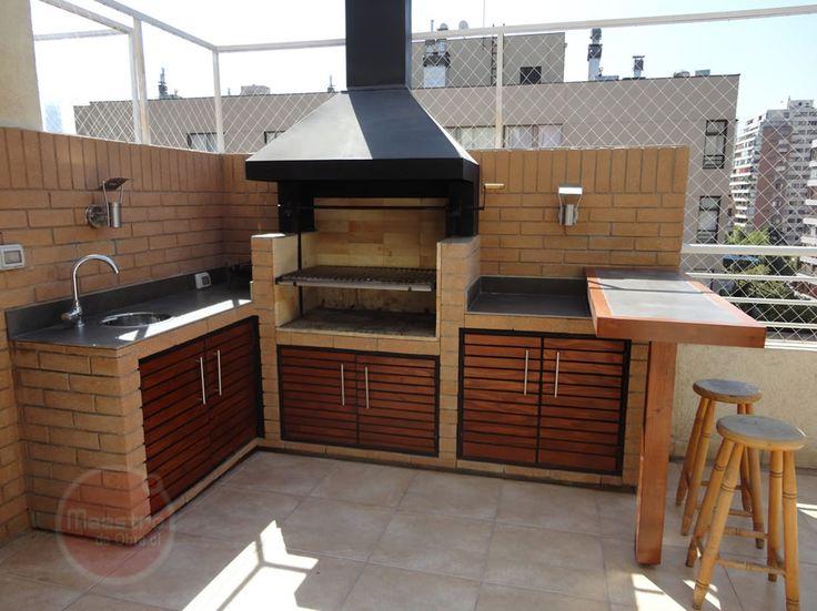 Las 25 mejores ideas sobre asadores de ladrillos en for Barbacoa patio interior