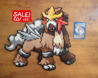 Cherubi Pokemon Perler Bead Sprite por PokePerlers en Etsy