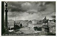 Italy 1930s Real Photo Postcard Roma Rome - Piazza Venezia Vittorio Emanuele II