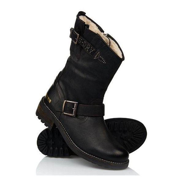 See this and similar Superdry boots - Superdry womenfts Bandit Boots. These biker-style boots feature twin straps and a commando-style sole. The inside is lined...