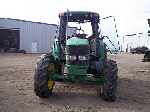 John Deere 6420 tractor dismantled for used parts. Call 877-530-4430 for parts or visit us online at http://www.TractorPartsASAP.com Thousands of salvaged tractors, vintage tractors, antique farm and ag equipment.