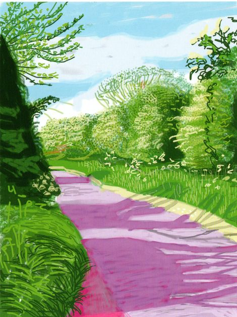 David Hockney, Unknown - ipad drawing on ArtStack #david-hockney #art