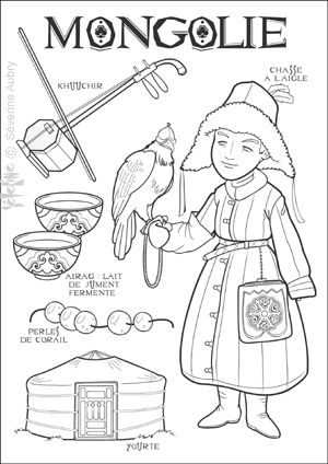mongol book coloring pages - photo#6