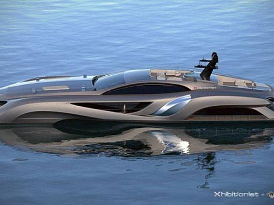 WEB LUXO - NÁUTICA: Mega-iate de luxo Xhibitionist tem super design e muita modernidade