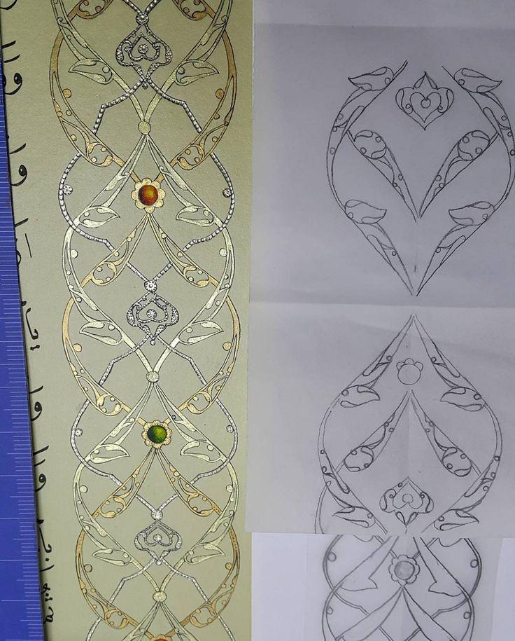 Rûmi detay Islamicart#illumination#tezhip#turkishart#altın#gold#mücevher#sanat#mywork#perdah#taş