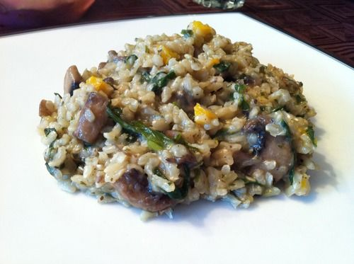 Brown Rice Risotto - gluten free and vegan!