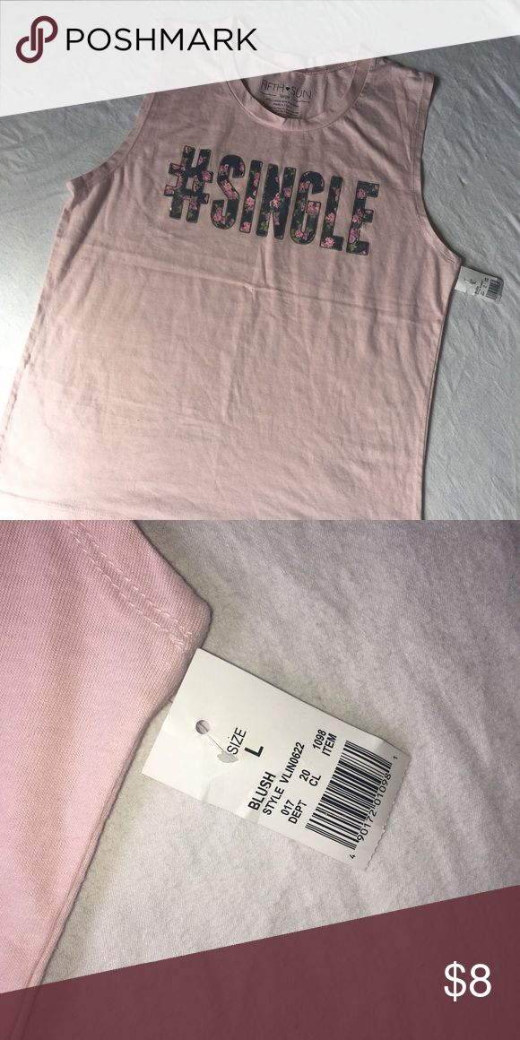 #Single Rose Pink Muscle Tee size L I have one new with tag and one new without tag. Tops Muscle Tees