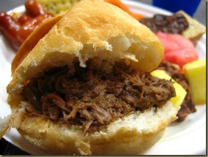 "New Orleans Style Roast Beef ""Debris"" Po-boy.  Crock Pot recipe! Here you go @Lesli Holt!!"