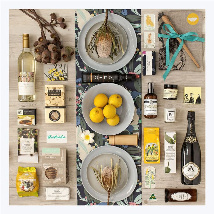 Premium Australian Table Gift Hamper: This premium gift of gourmet food, wine, sparkling, pamper products and linen will be sure to impress. Perfect for Him & Her, a family or as a special gift for a VIP. Go on and spoil them!