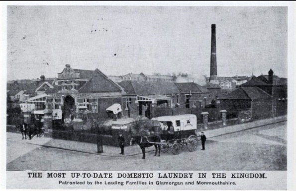 Old Laundry Postcard