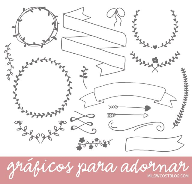 recursos molongos: gráficos para adornar   17 free hand drawn doodles to use in your graphics