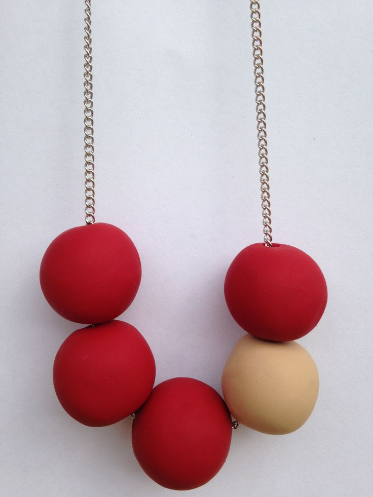 Colour pop necklace with chain! @ThatWeDo. You choose your colour combination. https://www.etsy.com/au/listing/186257077/handmade-polymer-clay-necklace-colour?ref=shop_home_feat_2