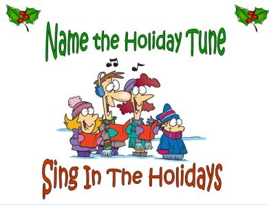 Super fun Christmas party game! Name that Holiday song.. great for groups!