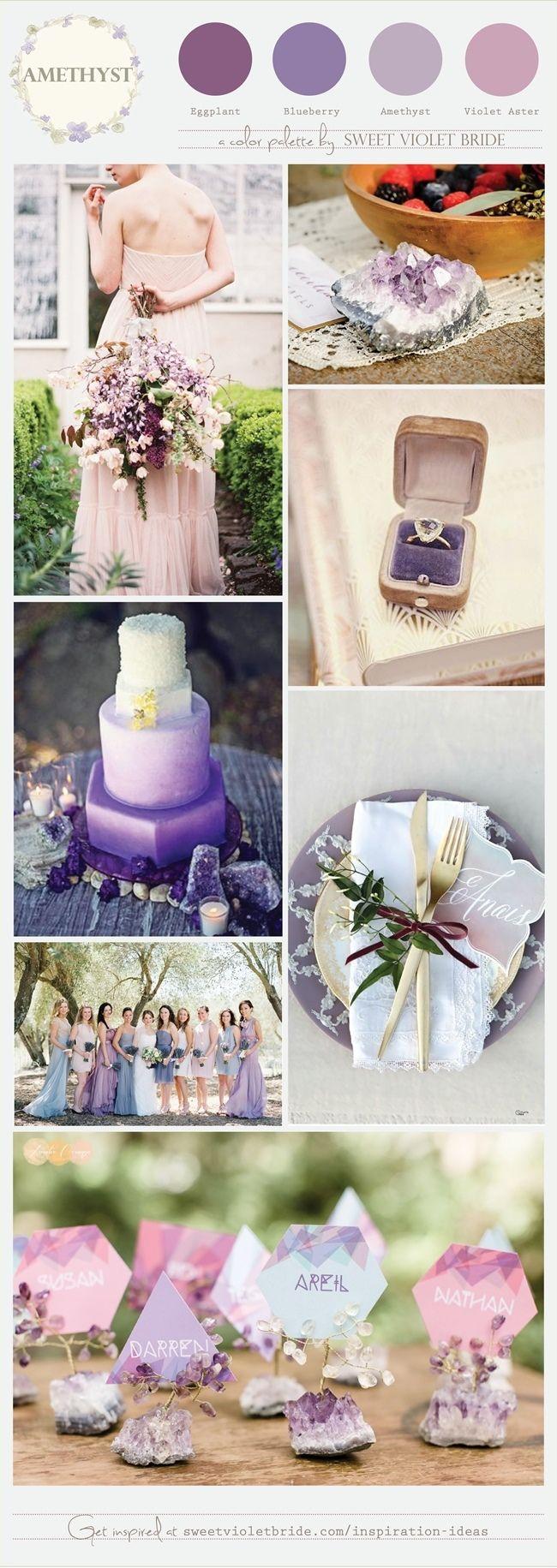 Wedding Color Palette: Amethyst