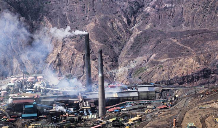 Fundicion Caletones, Minera El Teniente VI región, Chile
