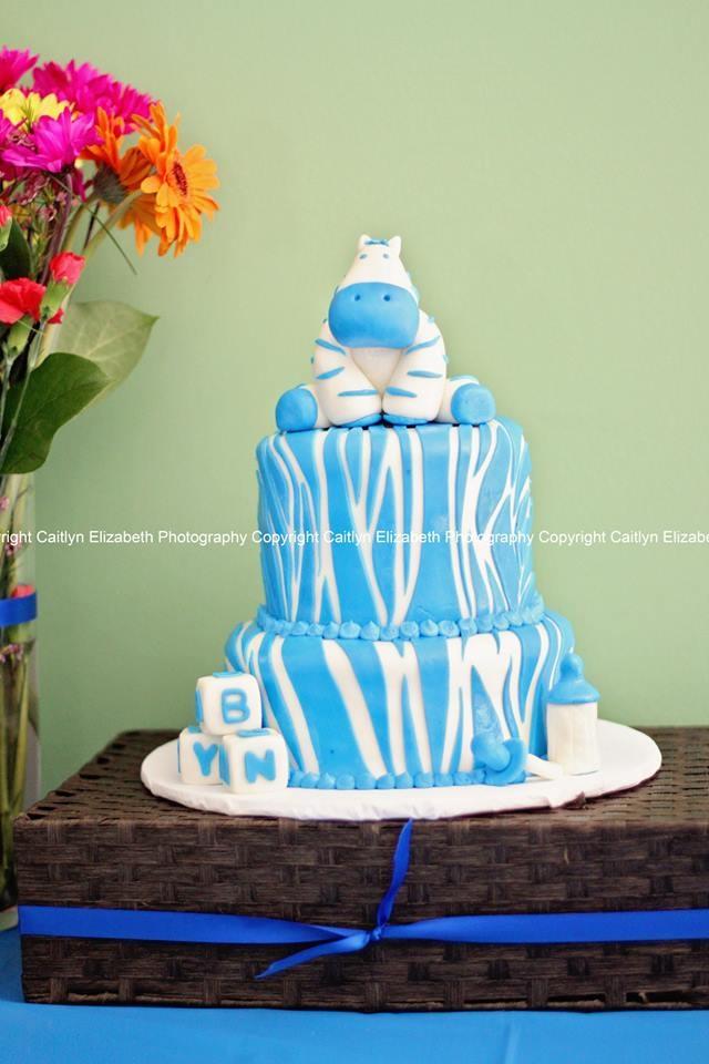 Zebra baby shower cake!