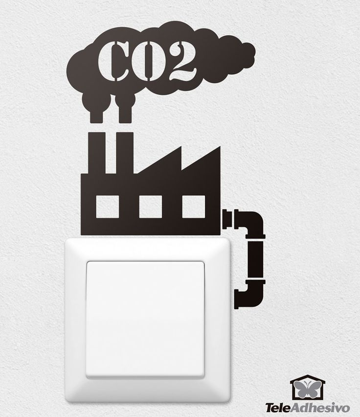 Vinilo decorativo Fábrica CO2