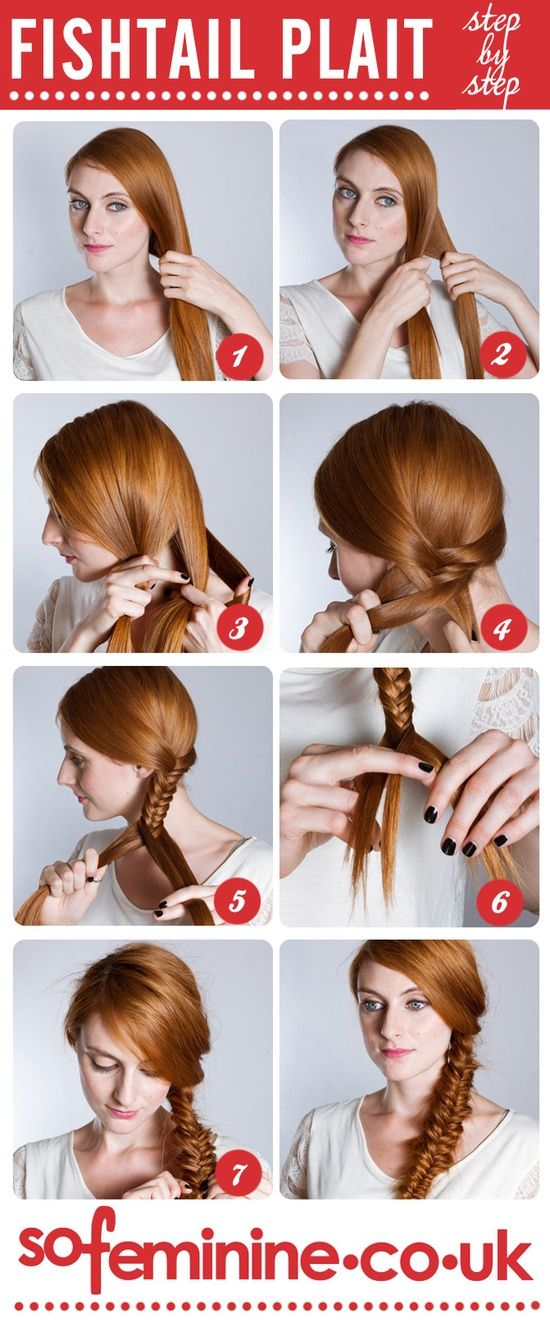 How to do a fishtail plait: Step by step fishtail braid @ Hair Color and Makeover Inspiration