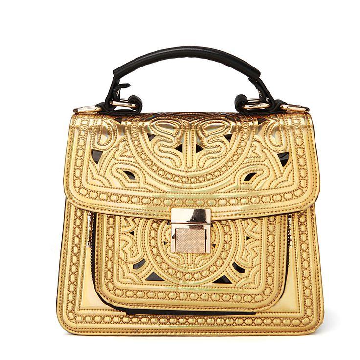 Aliexpress.com : Buy TMC Vintage Aimali Gold Cutout Carved Messenger Bag One Shoulder Handbag Messenger Bag Female JY021 from Reliable men shoulder bag suppliers on TMC Fashion Bags. $39.99