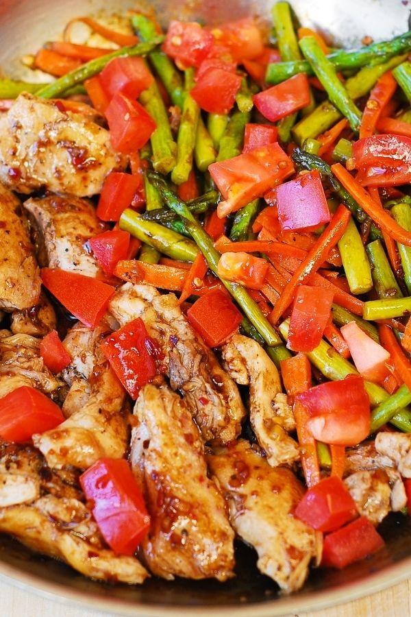 healthy dinner, easy chicken dinner, chicken and vegetables, Mediterranean recipe