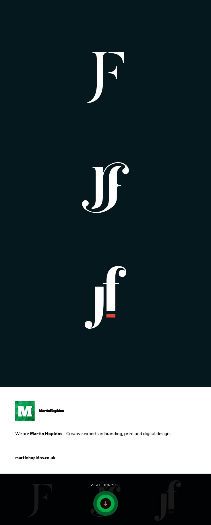 © Martin Hopkins Design, Cardiff - JF Monogram Logo Mark Brand Design