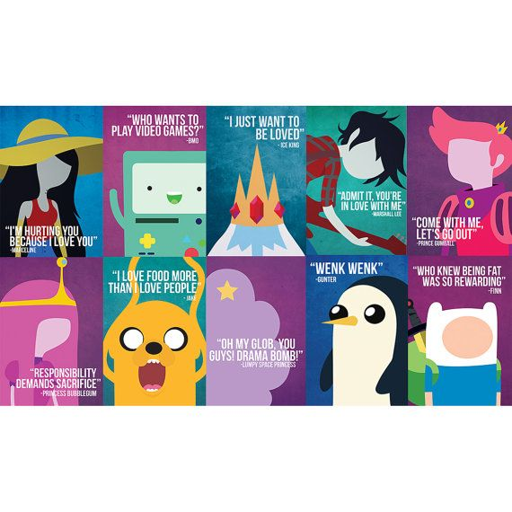 Hey, I found this really awesome Etsy listing at https://www.etsy.com/listing/160558046/8x12-inch-adventure-time-poster