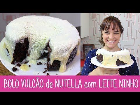 BOLO SURPRESA DOIS BRIGADEIROS COM MORANGO E NUTELLA - #348 - Receitas da Mussinha - YouTube