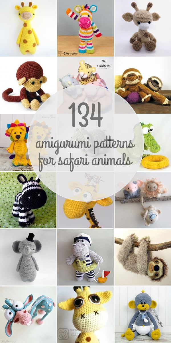 Amigurumi Patterns For Safari Animals