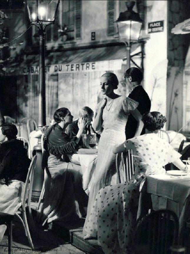 mimbeau:  Montmartre - Place du TertreParis 1932George Hoyninguen-Huene