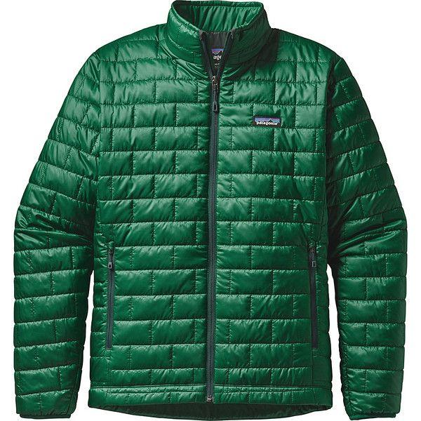 Mens olive green puffer jacket