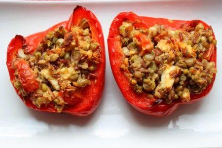 Plněné balkánské papriky