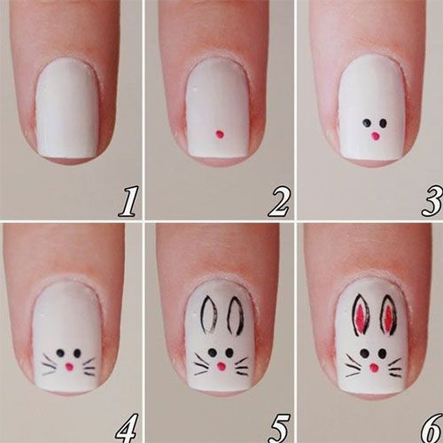 10+ Easy Step by Step Ostern Nail Art Tutorials für Lernende 2016 – Nagel Design 2019 Ideen