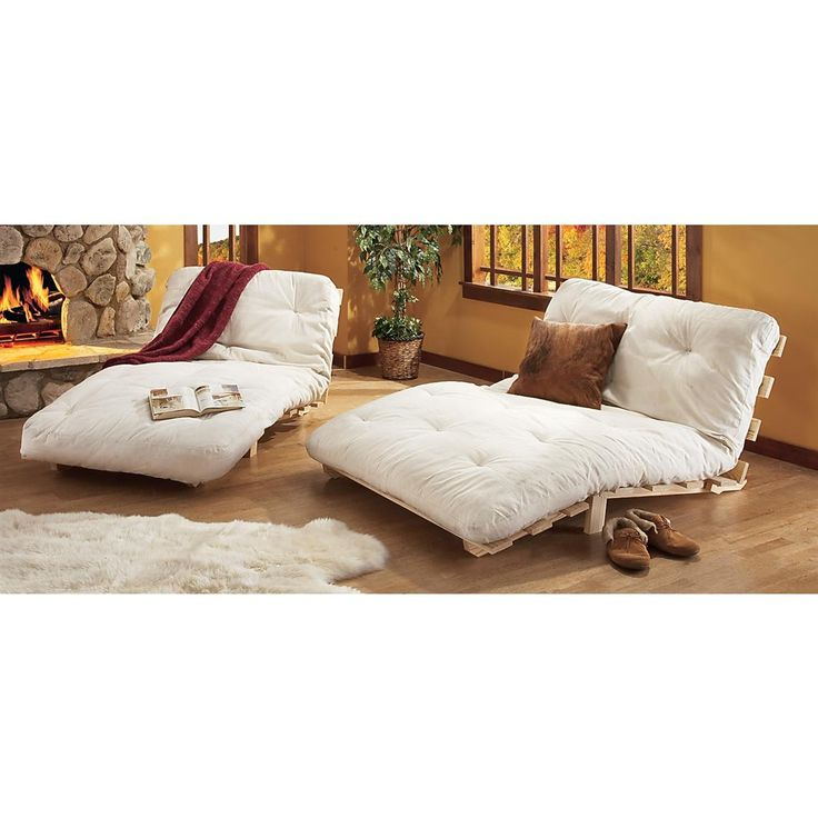 Twin Light Futon Bed White Color Chairfuton Mattresscomfy