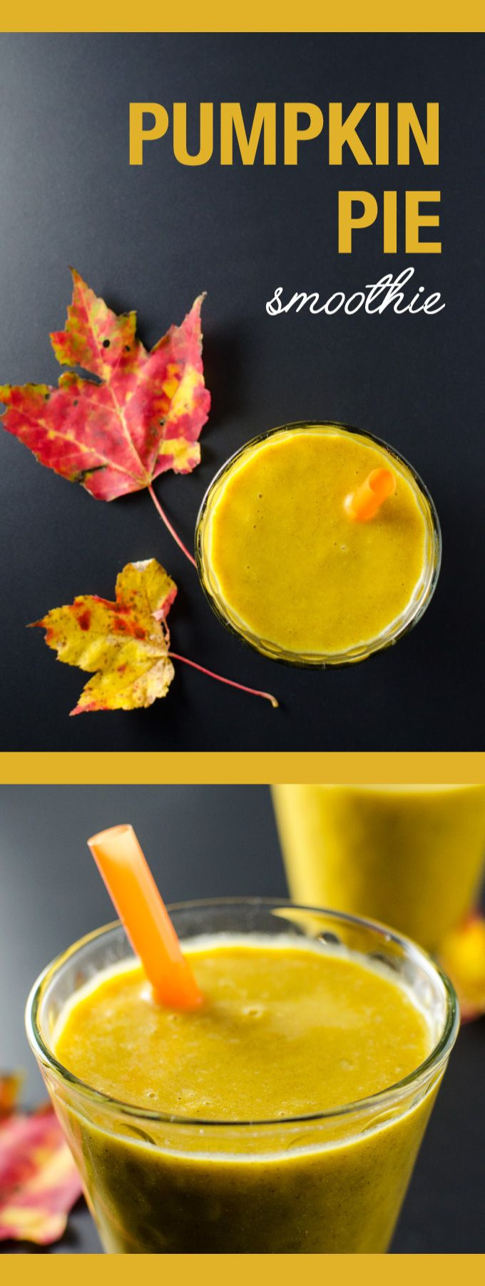 Pumpkin Pie Smoothie - why spend time making a pie? This smoothie recipe is a healthy snack that tastes like a dessert. It's quick and easy and vegan and gluten free | VeggiePrimer.com