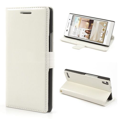 Wit booktype hoesje voor Huawei Ascend P6