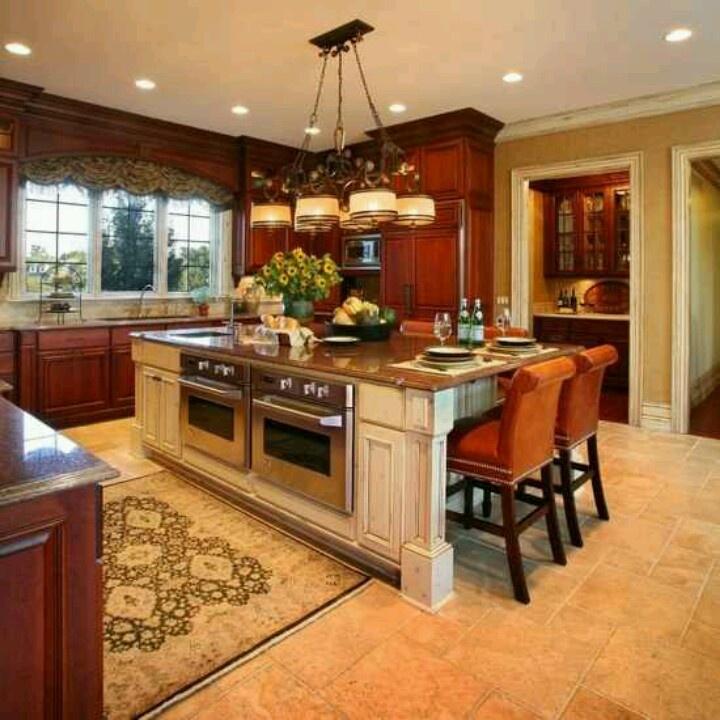 Pin by claudia aparicio on royal dream kitchen pinterest for Double island kitchen