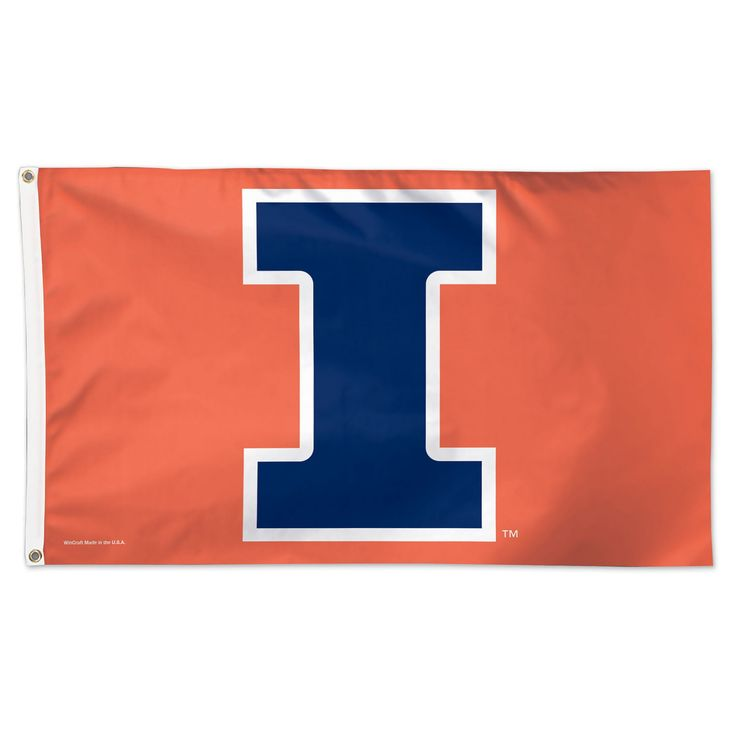 NCAA Wincraft Deluxe Flag Illinois Fighting Illini - 3x5