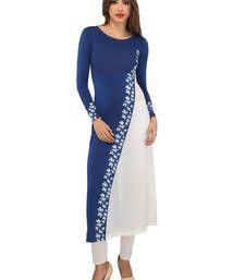 Buy Ira Soleil  diagonal design long kurti  kurtas-and-kurti online
