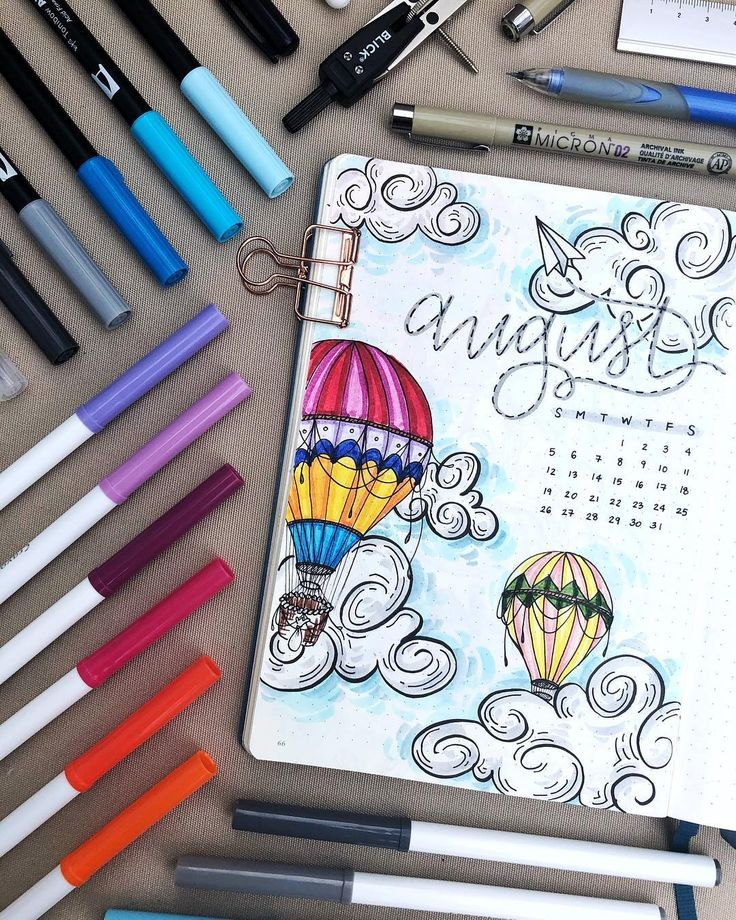 50+ Hot Air Balloon bullet journal layout Ideas an…